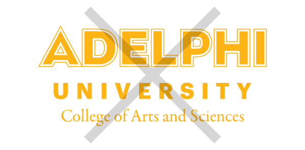 Adelphi Logo Usage Example - Typesetting department or school name