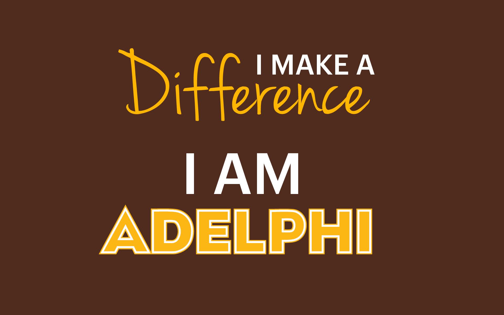 Adelphi I Make a Difference Wallpaper - Design Preview