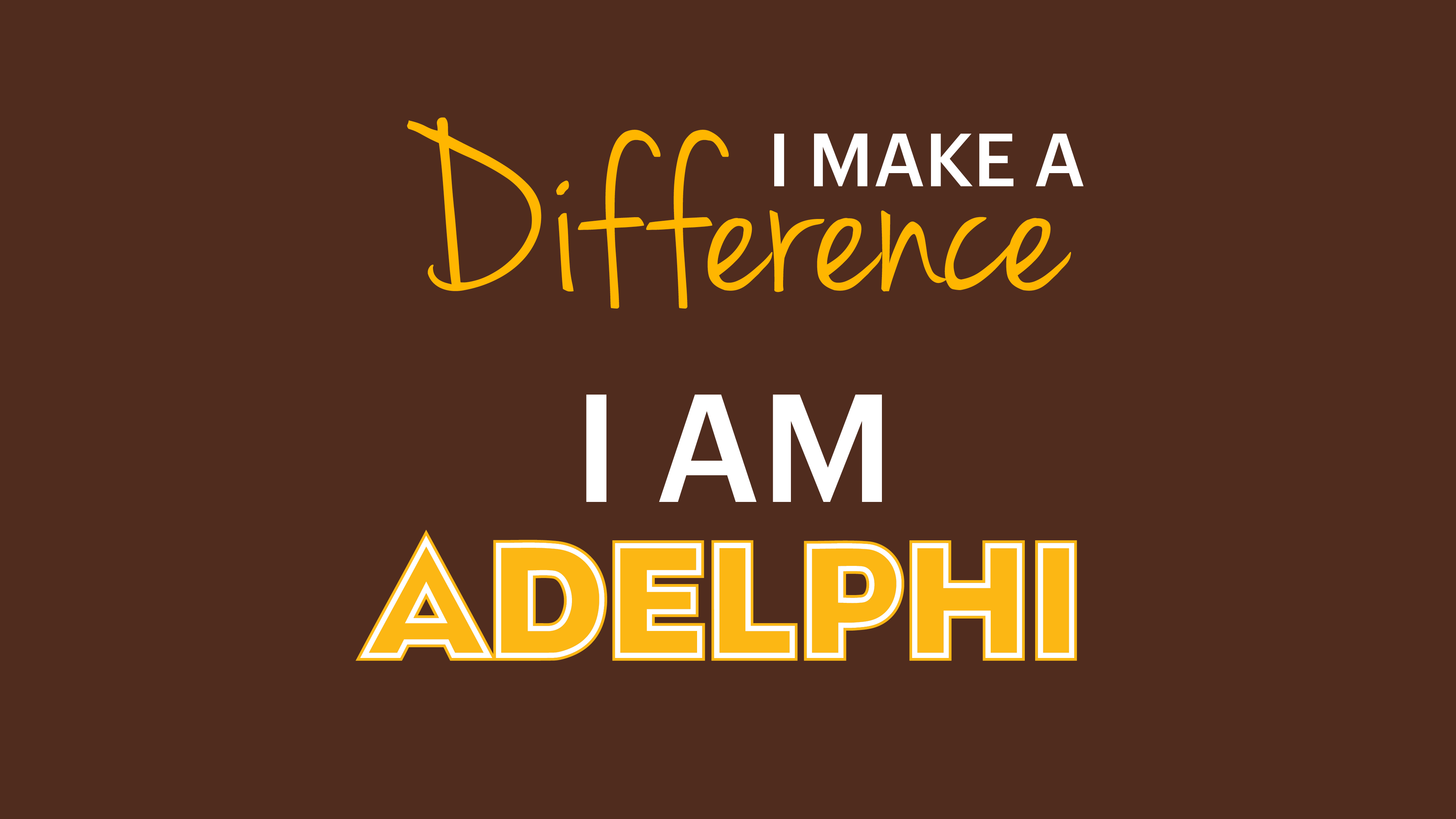 Desktop 16x9 - Adelphi I Make a Difference Wallpaper