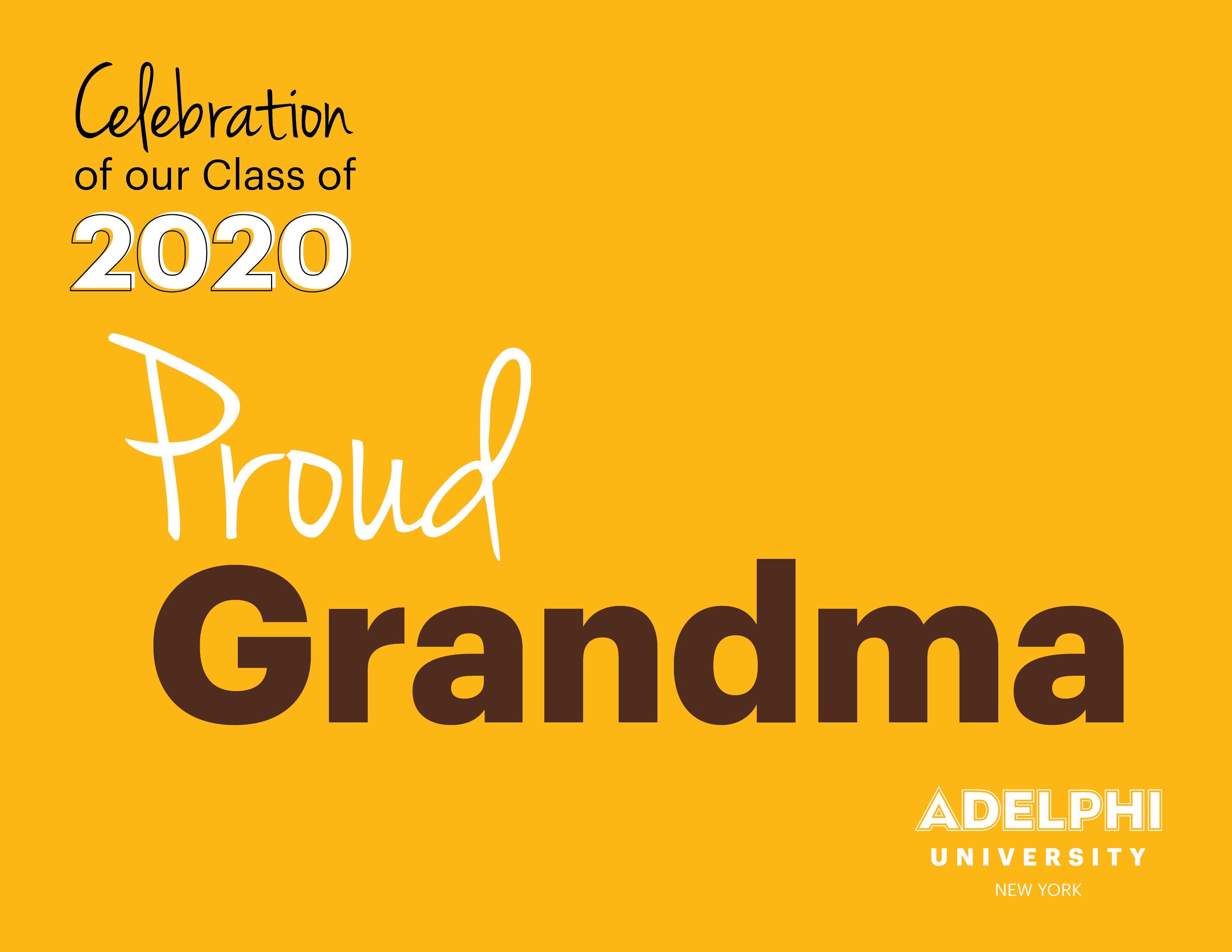 Class of 2020 - Proud Grandma!