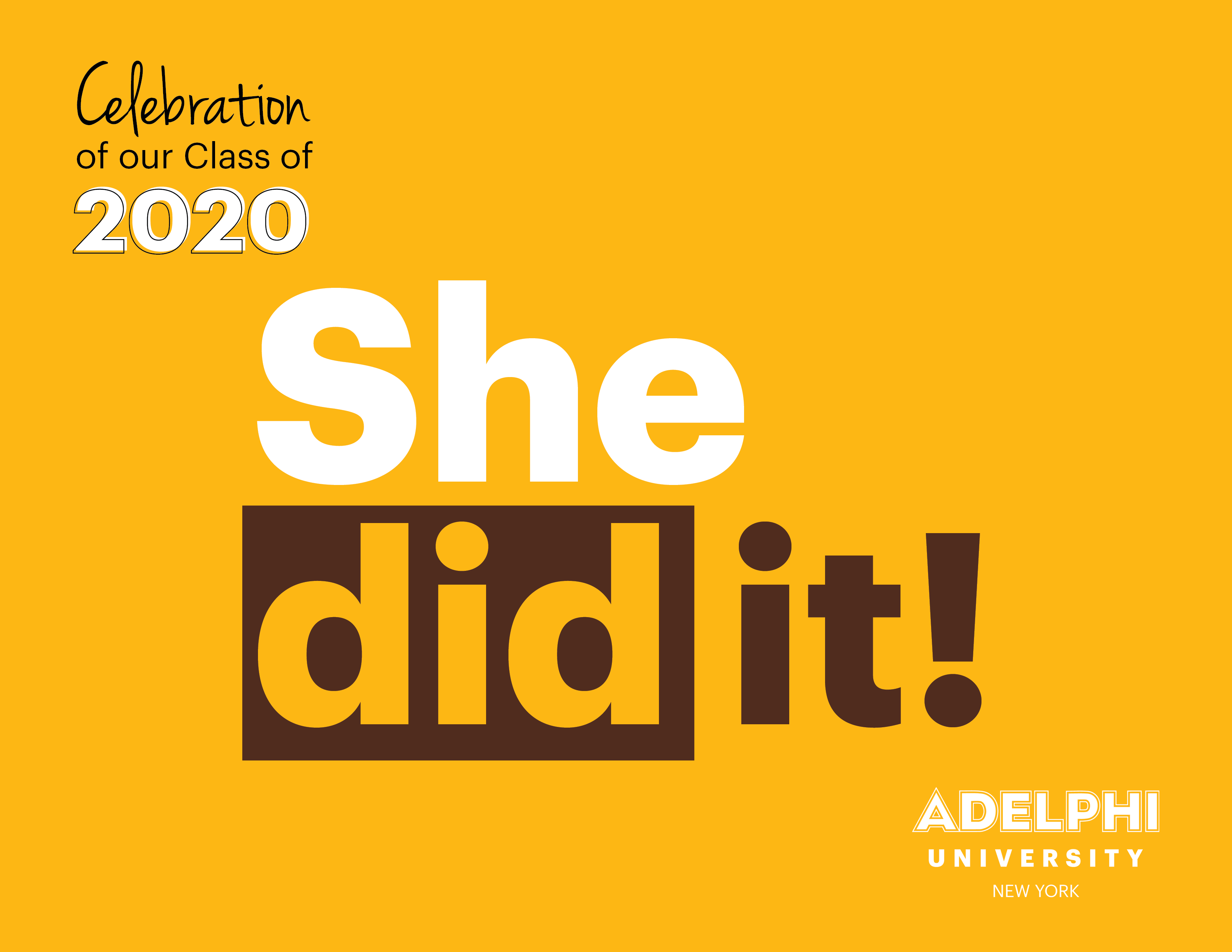 Class of 2020 - She did it!