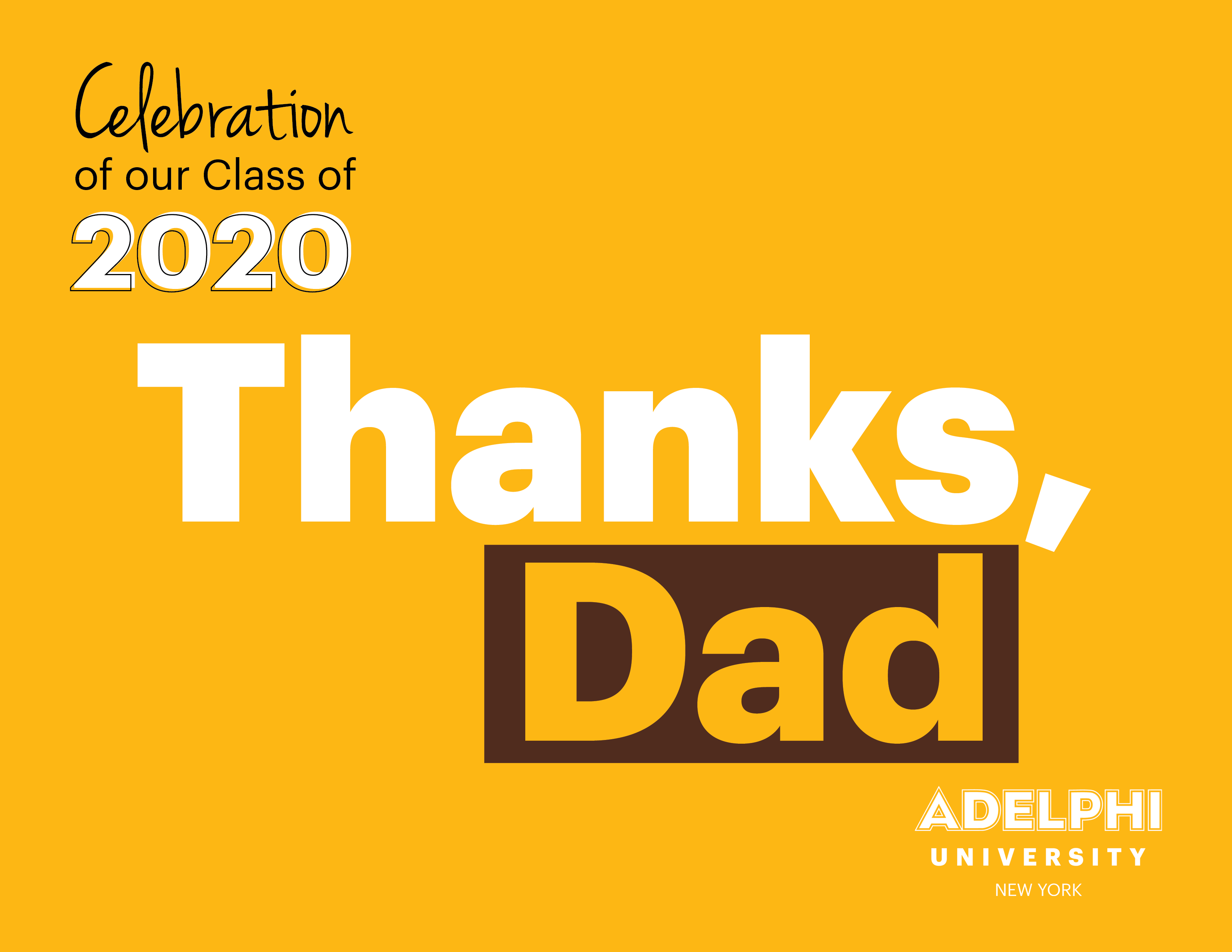 Class of 2020 - Thanks Dad!